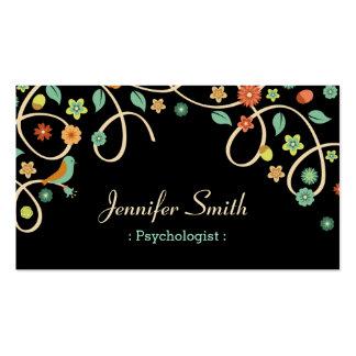 Psicólogo - redemoinho elegante floral cartão de visita