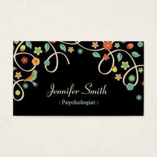 Psicólogo - redemoinho elegante floral cartão de visitas