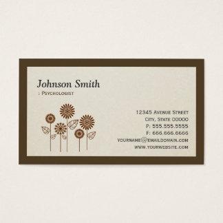 Psicólogo - símbolo elegante da árvore cartão de visitas