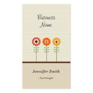 Psicólogo - tema floral bonito cartão de visita