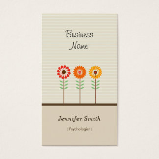 Psicólogo - tema floral bonito cartão de visitas