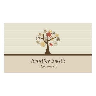Psicólogo - tema natural elegante cartão de visita
