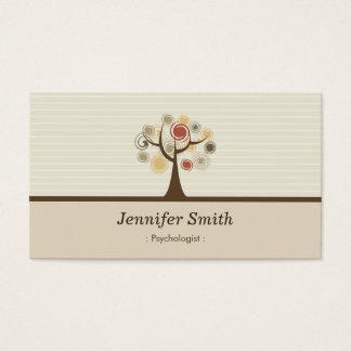 Psicólogo - tema natural elegante cartão de visitas