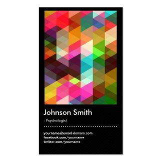 Psicólogo - teste padrão de mosaico colorido cartão de visita