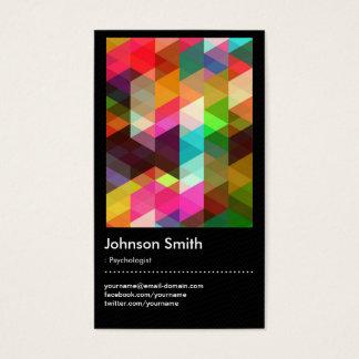 Psicólogo - teste padrão de mosaico colorido cartão de visitas