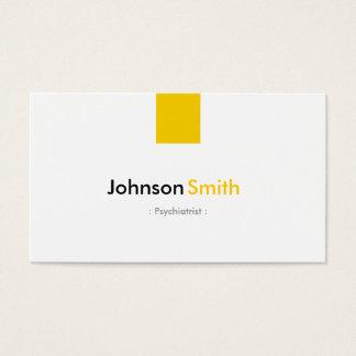 Psiquiatra - amarelo ambarino simples cartão de visitas