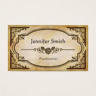 Psiquiatra - antiguidade elegante do vintage cartão de visitas
