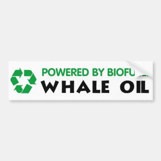 Psto pelo combustível biológico: Óleo de baleia Adesivos