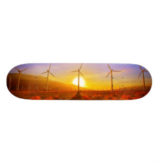 Psto pelo vento shape de skate 20,6cm