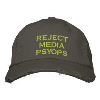psyops dos meios da rejeição boné bordado