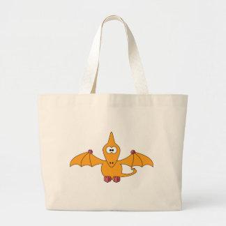 Pterodactyl dos desenhos animados (amarelo) sacola tote jumbo