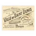 Publicidade do francês do vintage cartões postais