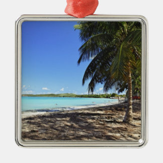 Puerto Rico, Fajardo, ilha de Culebra, sete mares Ornamento Quadrado Cor Prata
