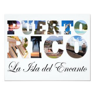 Puerto Rico La Isla Del Encanto Colagem/montagem Convite 10.79 X 13.97cm