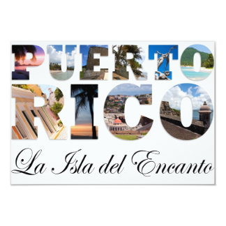 Puerto Rico La Isla Del Encanto Colagem/montagem Convite 8.89 X 12.7cm