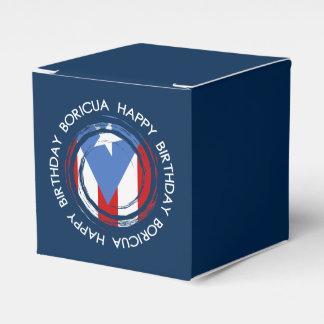 Puerto Rico: Tema da bandeira: Aniversário Boricua Caixinha De Lembrancinhas