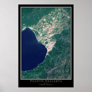 Puerto Vallarta México da arte do satélite do Poster