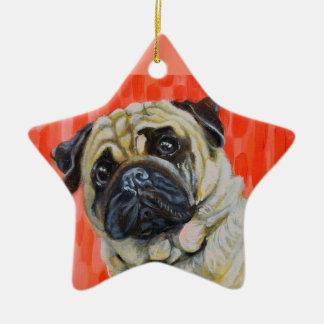 Pug 0range ornamento de cerâmica