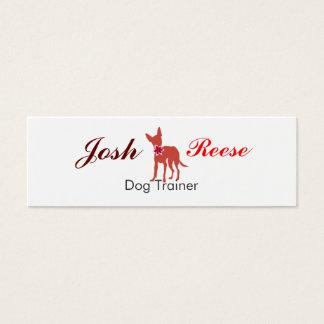 Pug bonito do filhote de cachorro da aguarela da cartão de visitas mini