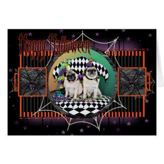 Pug do carnaval 2015 de Pugsgiving - Electra & Cartão Comemorativo