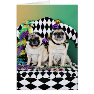 Pug do carnaval 2015 de Pugsgiving - Electra & Cartão De Nota