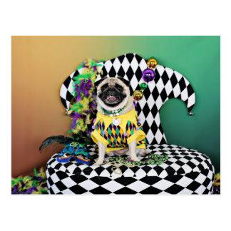 Pug do carnaval 2015 de Pugsgiving - Kylie - Cartão Postal