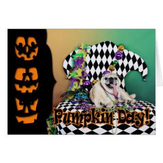 Pug do carnaval 2015 de Pugsgiving - Stanley - Cartão De Nota