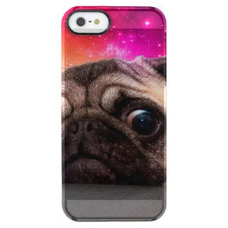 pug do espaço - comida do pug - biscoito do pug capa para iPhone SE/5/5s transparente