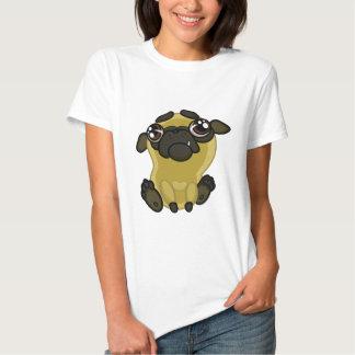 Pug feio engraçado do cão dos desenhos animados camiseta