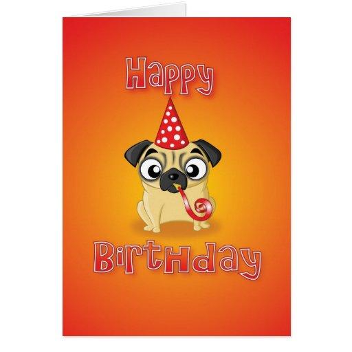 pug - hat&whistle - feliz aniversario cartoes