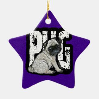 Pug Ornamento De Cerâmica