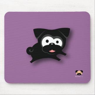 Pug preto Mousepad (roxo)