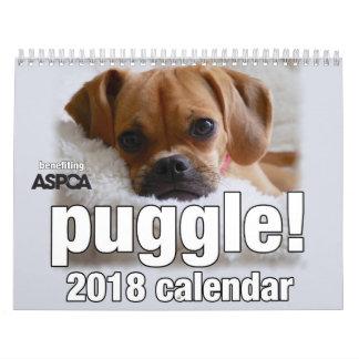 Puggle! Calendário 2018