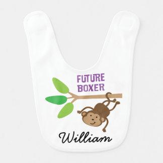 Pugilista futuro babador personalizado do bebê