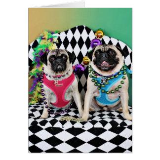 Pugs do carnaval 2015 de Pugsgiving - alces & Cartão De Nota