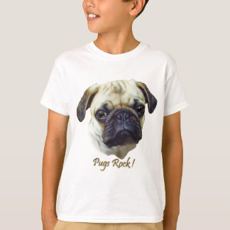 Pugs-Rock Camiseta