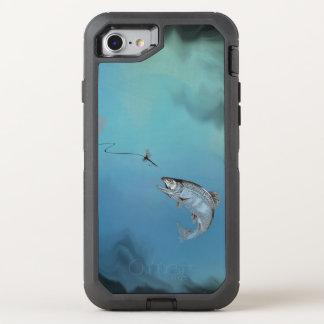 Pulando a pesca com mosca da truta no revestimento capa para iPhone 7 OtterBox defender