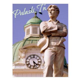 Pulaski, cartão da estátua do TN Sam Davis