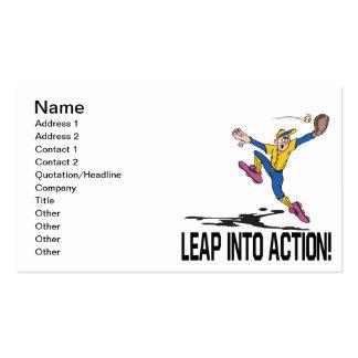 Pule na ação modelo cartão de visita