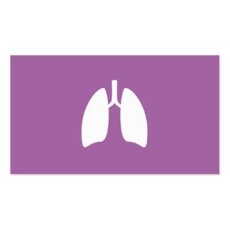 Pulmões modernos do pulmonologist da pneumologia m modelo cartoes de visitas