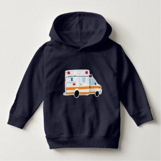 Pulôver bonito do Hoodie da criança da ambulância