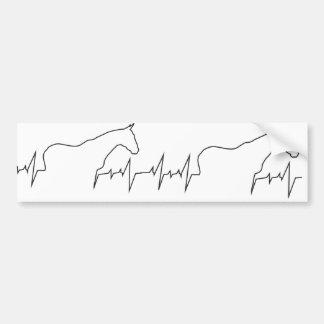 Pulsação do Coração-Cavalo-e-Corpo Adesivo De Para-choque