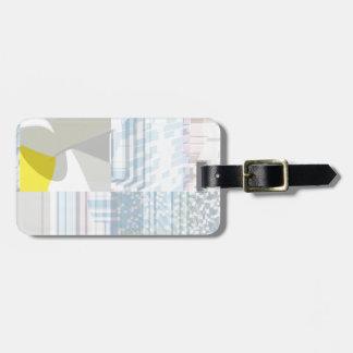 Pulso aleatório número nove etiqueta de bagagem
