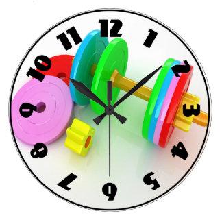 Pulso de disparo colorido dos Dumbbells Relógios Para Pendurar