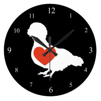 Pulso de disparo com crista polonês do amor relógios de pendurar