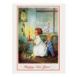 Pulso de disparo das crianças do feliz ano novo do cartões postais