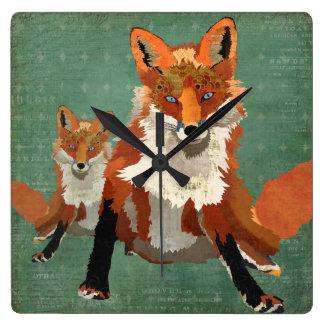 Pulso de disparo de parede ambarino do Fox Relógios De Paredes
