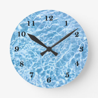 Pulso de disparo de parede da água da piscina relógio redondo