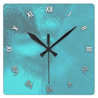 Pulso de disparo de parede de vidro azul do olhar relógios de paredes