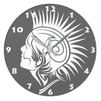 Pulso de disparo de parede (PRETO E BRANCO) TRIBAL Relógios De Paredes